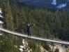 Brande on suspension bridge at Sea to Sky Gondola near Whistler, British Columbia
